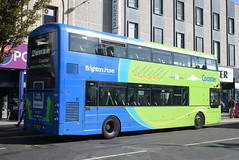 BH 934 @ Churchill Square, Brighton (ianjpoole) Tags: brighton hove wright streetdeck bx15onl 934 working route 12 churchill square seaford library