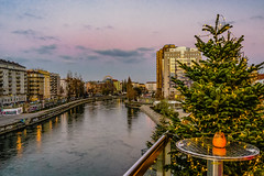the Danube Canal (a7m2) Tags: austria vienna danube canal urania travel river events weihnachten advent