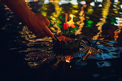 Loy Krathong festival, People buy flowers and candle to light and float on water to celebrate the Loy Krathong festival in Thailand. (Patrick Foto ;)) Tags: asia asian background bangkok beautiful beauty buddhism candle celebrate celebration ceremony close culture decoration event festival fire float flower full green hand holiday krathong kratong lake lamp leaf light loy mai moon night november park party people religion respect river symbol thai thailand tourism tourist tradition travel water bangkokmetropolitanregion th