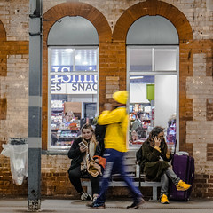 Yellows........ (2 of 3) (+Pattycake+) Tags: eastcoast 10dec18 street candid winter yellow railwaystation ipswich people architecture travel everyday lumixdmcgm1 mirrorless streetphotography town coastal