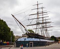 London/Greenwich (Helmut44) Tags: grosbritannien vereinigteskönigreich greatbritain unitedkingdom greenwich london cuttysark klipper segelschiff schiff museum trockendock