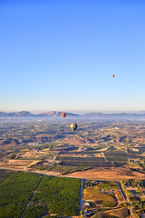 Balloons and Ocean (Kansas Poetry (Patrick)) Tags: wine california balloonride temecula southerncalifornia color