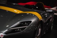 Ferrari Monza SP1 (GPE-AUTO) Tags: paris motor show parismotorshow motorshow autoshow mondialauto mondialparis france ferrari monza sp1 ferrarimonza ferrarimonzasp1 monzasp1 spafrancorchamps spa livery 750monza spec grey yellow gris jaune pista spyder pistaspyder 488pista