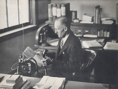 Dean Henry G. Hotz, circa 1937. Photo credit: University of Arkansas Razorback Yearbook (thstrand) Tags: firsts firstwomanfullprofessor firstfemalefullprofessor hotzhall distinguishedfaculty faculty academia academic devices device recordings audiorecording waxcylinderrecording dictaphone technology machines machine dictation 20thcentury 1937 1930s arkansas history historic colleges college highereducation professors professor deanofeducation deans dean universityofarkansas stellapalmerhotz stellapalmer stellahotz henryghotz henryhotz