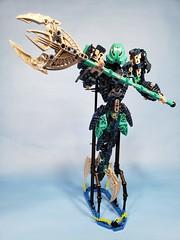 Aecor (TuragaNuva) Tags: lego bionicle moc blue teal water silver kakama trident tail sea