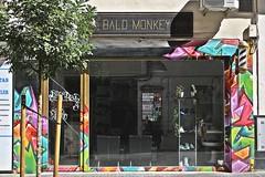 Bald Monkey (just.Luc) Tags: kapsalon coiffeur barbershop friseur spain spanje espagne españa spanien andalusië andalucía andalusien andalousie andalusia sevilla seville séville siviglia europa europe reflection reflections reflexion window raam venster fenster fenêtre sign