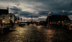 early morning at the harbour (johnny_9956) Tags: scotland morning town urban street sky fife harbour cobbles outdoor landscape outside