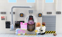How Ice Cream Cone was really made 2/2🍦 (Alex THELEGOFAN) Tags: lego legography minifigure minifigures minifig minifigurine minifigs minifigurines laboratory lab movie 2 the ice cream cone unikitty white gray scientist