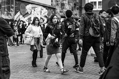 Oh No!, My Ex! (burnt dirt) Tags: asian japan tokyo shibuya station streetphotography documentary candid portrait fujifilm xt1 bw blackandwhite laugh smile cute sexy latina young girl woman japanese korean thai dress skirt shorts jeans jacket leather pants boots heels stilettos bra stockings tights yogapants leggings couple lovers friends longhair shorthair ponytail cellphone glasses sunglasses blonde brunette redhead tattoo model train bus busstation metro city town downtown sidewalk pretty beautiful selfie fashion pregnant sweater people person costume cosplay boobs