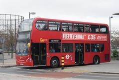 GAL E40 @ North Greenwich bus station (ianjpoole) Tags: goahead london central alexander dennis enviro 400 lx56etd e40 working route 132 north greenwich bus station geddes place blexleyheath