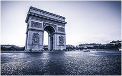 ARC DE TRIOMPH - PARIS (Fredy Laguna) Tags: arcdetriomphe beautiful cars champselysees city cityscape destination europe european evening france french lighttrails night nightlife paris sunset tourism tourists traffic travel vacation