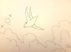 Flying (robinhoepfinger1) Tags: sketch drawing bird sky flying