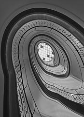 old spiral up (Blende1.8) Tags: spiralstaircase spiral wendeltreppe stairs staircase treppenhaus treppe treppenauge treppengeländer treppenschnecke treppen lines curves circular stair stairway stairwaytoheaven architecture interior architektur glasdach glassroof roof ceiling upwards sel1224g sony alpha ilce7m3 a7iii a7m3 carstenheyer