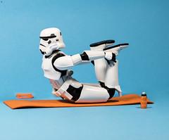 Yoga Trooper (Jezbags) Tags: yoga trooper bottle starwars stormtrooper troopers canon canon80d 80d 100mm closeup macro macrophotography macrodreams shfiguarts bandai toy toys stretch
