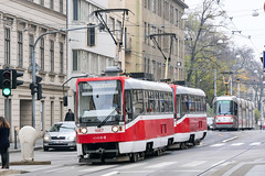 BRN_1667_201811 (Tram Photos) Tags: ckd t3r brno brünn strasenbahn tram tramway tramvaj tramwaj mhd šalina dopravnípodnikměstabrna dpmb tatra