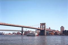 Brooklyn bridge (Sergei Prischep) Tags: kodak ektar 100 6x9 120 film 69 zeiss jena tessar