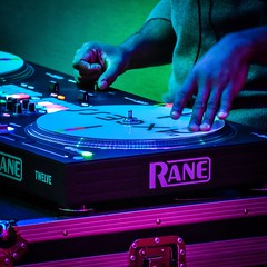 Turntable (tim.perdue) Tags: turntable dj deejay mix scratch music hollywood casino columbus ohio rane axcess digital hands colors multicolored lights red blue green magenta instagram nikon d5600 18140mm nikkor square crop twelve 12 controller midi