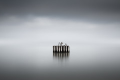 Outpost (Dan Portch) Tags: marker sea seascape seaside water long exposure le minimal fine art harbour post whitstable kent moody clouds clou cloudy conceptual muted