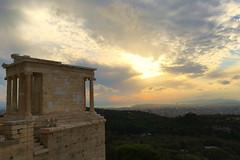 Acropole V - Athéna Nikè (Julien JUBIN) Tags: athenes athena acropole antiquite grece hellas couchersoleil ciel sunset