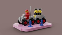 Febrovery 2019 08 (David Roberts 01341) Tags: lego ldd mecabricks render classicspace spaceman minfigure quadbike rover febrovery offroad