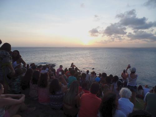 everybody watching the sunset