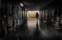 draw (Daz Smith) Tags: dazsmith fujifilmxt3 xt3 fuji bath city streetphotography people candid portrait citylife thecity urban streets uk colour silhouette tunnel mural graffiti bristol