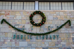 Outdoor Greetings (Lester Public Library) Tags: 365libs lesterpubliclibrary librariesandlibrarians lpl library lesterpubliclibrarytworiverswisconsin libraries libslibs publiclibrary publiclibraries tworiverswisconsin holiday christmas merrychristmas wreath tree librarydecorations wisconsinlibraries readdiscoverconnectenrich