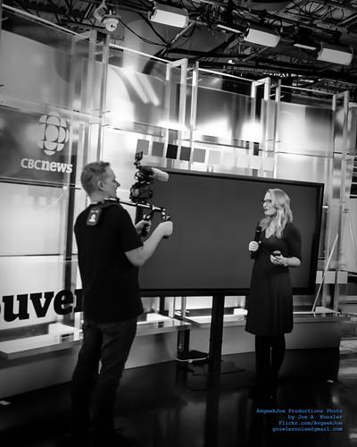 Johanna Getting Interviewed by a DSLR