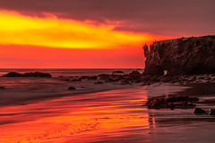 Malibu Beach Sunset Red & Orange Clouds Fine Art El Matador State Beach California Landscape Seascape Photography! Sony A7R II & Sony FE 24-240mm Lens! High Res 4k 8K Photography! Elliot McGucken Fine Art Pacific Ocean Sunset! Sony A7RII A7R2! (45SURF Hero's Odyssey Mythology Landscapes & Godde) Tags: malibu sea cave sunset red orange clouds fine art el matador state beach california landscape seascape photography sony a7r iii fe 1635mm f28 gm g master lens high res 4k 8k mcgucken pacific ocean a7riii a7r3 ii 24240mm elliot a7rii a7r2
