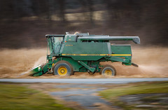 Race Against Time (marko138) Tags: blur combine fall johndeere newbloomfield pan perrycounty slowshutter tractor