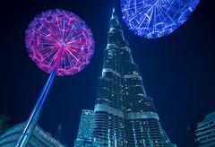 Burj Khalifa Dubai (sabrinasteiger1) Tags: dubai burjkhalifa turm gebäude highestbuilding building tower architektur vae emirates wüste pusteblume light lights langzeitbelichtung nachtaufnhame night nightshot blauestunde bluehour