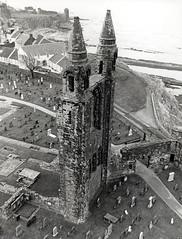 St Andrews Cathedral 1974 (M McBey) Tags: cathedral golf homeofgolf ruin church churchyard futureking scotland nikkormatftn nikkormat 35mmf20ai panf ilfordpanf standrews hccity