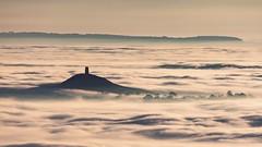 Tor In The Clouds 003TP (Doyleecart Photography) Tags: avalon isle glastonburytor glastonbury mendip doyleecart england mystic uk tower clouds somerset