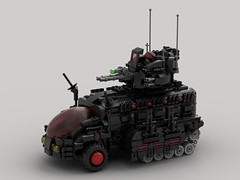 m6 BTR Troop Transport (V2) (demitriusgaouette9991) Tags: lego ldd military army armored powerful btr future transport apc whitebackground deadly destroyer tank cockpit turret vehicle