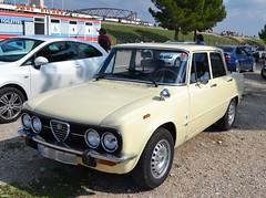 ALFA ROMEO Nuova Super 1300 - 1974 (SASSAchris) Tags: alfa romeo nuova super voiture italienne trèfle 10000 tours castellet circuit ricard