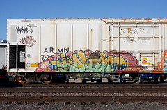 Kamit (quiet-silence) Tags: graffiti graff freight fr8 train railroad railcar art kamit tbv armn reefer unionpacific armn725260