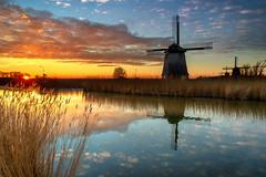 Molens van Schermerhorn (johan wieland) Tags: johanwieland 2019 molens mill mills schermermolens sunset zonsondergang lee reversegrad filter leefilter mirror