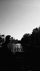 Untitled scene at canal (marco_albcs) Tags: amsterdam dutch netherlands streets photography man bike bicycle canal