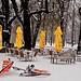 Posthoorn terras in de winter