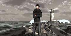 Deja vu (Ix Heron) Tags: deadwool virtual virtualworld virtually virtualart view lighthouse secondlife sea selfie
