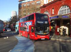 SLN 12375 - YX16OGO - ELEPHANT & CASTLE - THU 17TH JAN 2019 (Bexleybus) Tags: ec elephant and castle underground station london road newington causeway stagecoach selkent adl dennis enviro 400 mmc hybrid tfl route 12375 yx16ogo 53