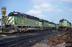 BN SD45 6437 (chuckzeiler50) Tags: bn sd45 6437 railroad emd locomotive clyde train chuckzeiler chz