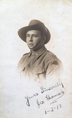 Australian soldier - George Thomas - 1917 (Aussie~mobs) Tags: 1917 georgethomas soldier portrait australia military army