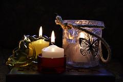 Candles (roanfourie) Tags: flickrlounge weeklytheme glass lowlight candle candles stilllife spring nikon d3400 nikkor afp 1555mm vr dx raw gimp november 2018 kitlens
