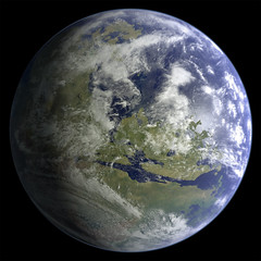 Earth-like Mars (Kevin M. Gill) Tags: mars terraforming space planetary science astronomy hypothetical computergraphics cgi