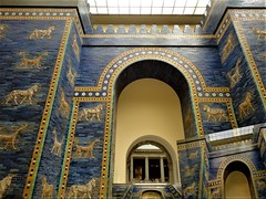 The Ishtar Gate (dodagp) Tags: europe germany berlin thepergamonmuseum theishtargate mesopotamiangoddess excavations reconstructions archaeologists robertkoldewey ancientcivilisations blueglazedbricks glossyandcolorfulbasreliefsculptures dragonsbulls babylonianculture neareast
