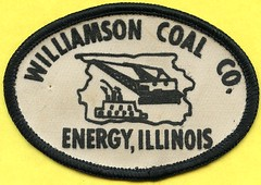 Williamson Coal Co. Patch (Coalminer5) Tags: coalmining coalminer coalmemorabilia coalcollectibles mining miningmemorabilia miningcollectible miningartifacts sewonpatch surfacemine surfaceminer surfacemining stripmine stripmining stripminer illinoiscoal williamsoncountycoal dragline