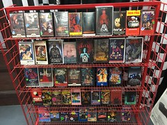 "Horror Movie Rack at Slashback Video • <a style=""font-size:0.8em;"" href=""http://www.flickr.com/photos/28558260@N04/31352130227/"" target=""_blank"">View on Flickr</a>"