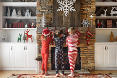 Less than a week to go! (Elizabeth Sallee Bauer) Tags: christmas boy child childhood cozy family festive fireplace fun girl happiness holiday kid red seasonal stockings together