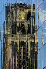 Netherlands - Rotterdam - Reflections 01_DSC9113 (Darrell Godliman) Tags: netherlandsrotterdamreflections01dsc9113 mvrdv markthal rotterdam netherlands holland reflection reflections church glass